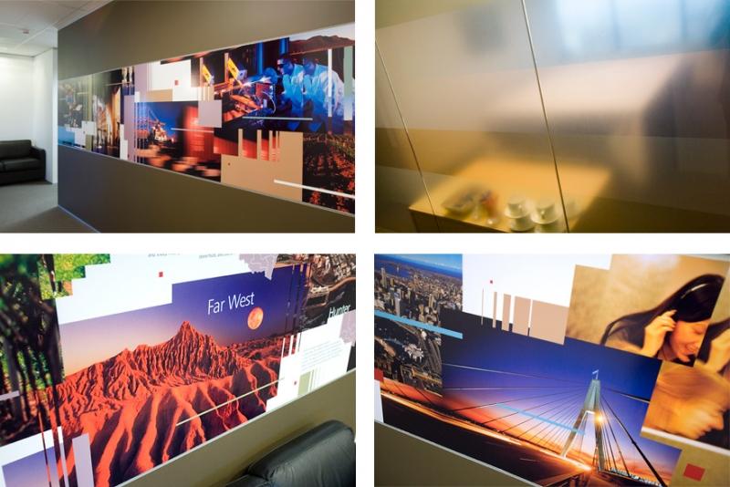 T+I Headquarters Environmental Graphics